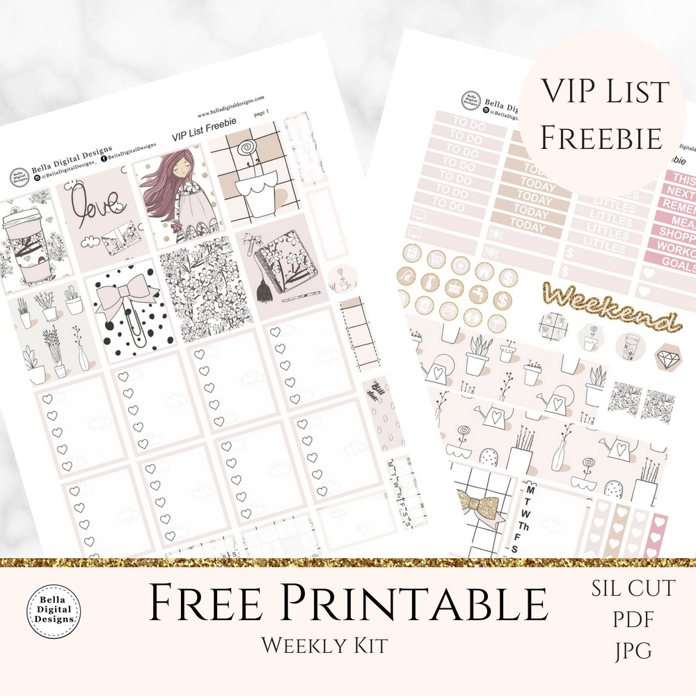 photograph about Freebie Planner named VIP Checklist freebie planner lady go over 1 - Bella Electronic Models